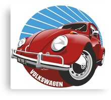 Sixties VW Beetle red Canvas Print