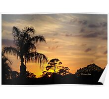 Fast Moving Clouds at Sunset Poster