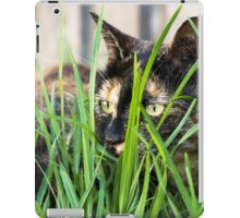 Cat in grass (non-clothing products) iPad Case/Skin