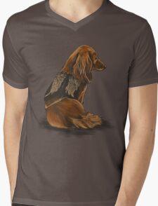 Daryl Dachshund Mens V-Neck T-Shirt