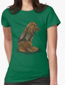 Daryl Dachshund Womens Fitted T-Shirt