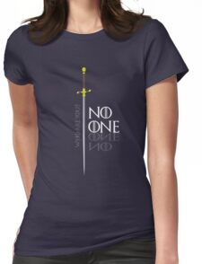 No One  Womens Fitted T-Shirt