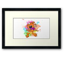 Orange monster! Framed Print