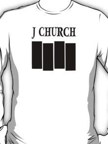 J Church Flag in Black T-Shirt