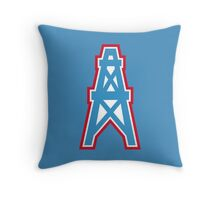 Houston Oilers Throw Pillow