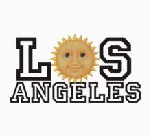 Los Angeles sun emoji (black text) by kkkevinacunaaa