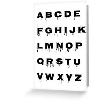 Alphabet - Spooky Greeting Card