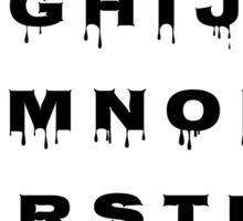 Alphabet - Spooky Sticker