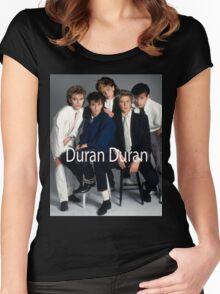 Vintage Duran Duran Poster Women's Fitted Scoop T-Shirt