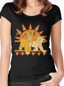 Simba and Nala Women's Fitted Scoop T-Shirt