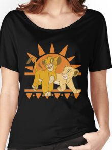 Simba and Nala Women's Relaxed Fit T-Shirt