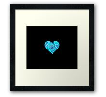 Blue Doodle Heart Framed Print