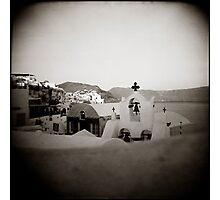 { Santorini Rooftops } Photographic Print