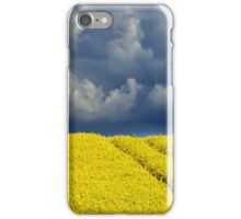 Canola crop with a stormy sky iPhone Case/Skin