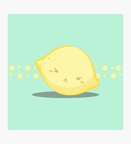 Cute Tropical Fruits - Lemon Photographic Print