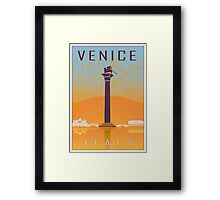 Venice vintage poster Framed Print