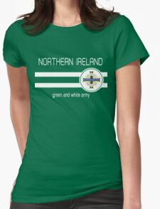 Euro 2016 Football - Northern Ireland (Green) Womens Fitted T-Shirt