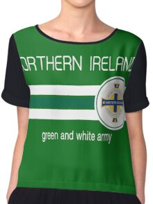 Euro 2016 Football - Northern Ireland (Green) Chiffon Top