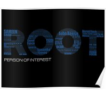 Root Typography [Black/Blue] Poster