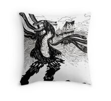 Dragon at Sea- Environmentally Unfriendly Throw Pillow