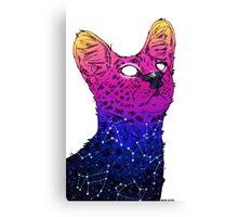 Galaxy Serval Canvas Print