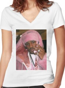 Cam'ron Pink Women's Fitted V-Neck T-Shirt