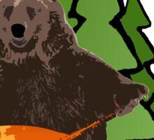 Russian Bear with a Balalaika Sticker