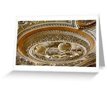Astley Hall ceiling Greeting Card