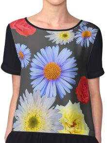 Colorful flowers like living Chiffon Top