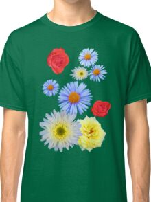 Colorful flowers like living Classic T-Shirt