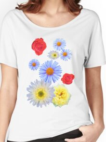 Colorful flowers like living Women's Relaxed Fit T-Shirt