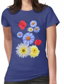 Colorful flowers like living Womens Fitted T-Shirt