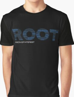 Root Typography [Black/Blue] Graphic T-Shirt