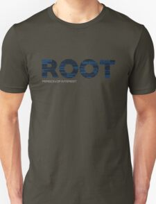 Root Typography [Black/Blue] Unisex T-Shirt