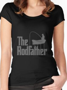 Funny Parody T-shirt Best Gift For Fishermen, Angler Women's Fitted Scoop T-Shirt