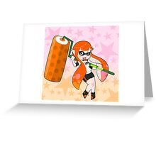 Orange Roller Girl Inkling Greeting Card