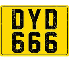 Dylan Dog License Plate Photographic Print