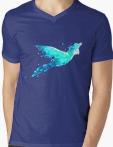 Water Parrot Mens V-Neck T-Shirt
