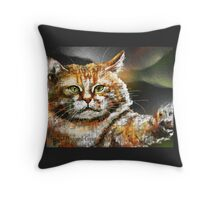 Punch , F on Artist on Facebook, Vavoom, Cat's Pajamas Throw Pillow