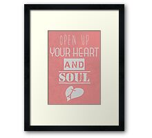 Heart and soul Framed Print