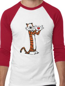 Calvin and Hobbes Love Men's Baseball ¾ T-Shirt