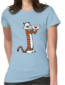 Calvin and Hobbes Love Womens Fitted T-Shirt