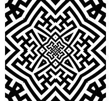 Sayagata 4 Warped and Tiled V2 Photographic Print
