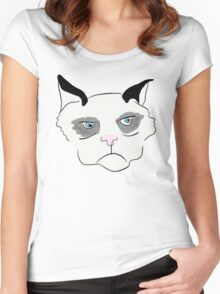 Cranky Cat Women's Fitted Scoop T-Shirt