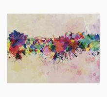 Sydney skyline in watercolor background Kids Tee