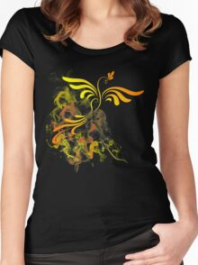 Flaming Phoenix Rising Women's Fitted Scoop T-Shirt