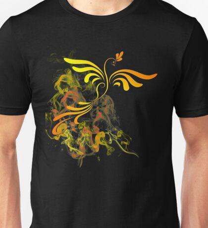 Flaming Phoenix Rising Unisex T-Shirt