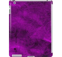 Purple swirls iPad Case/Skin