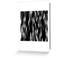 WAVY-1 (Black & White)-(9000 x 9000 px) Greeting Card