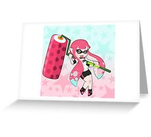 Pink Roller Girl Inkling Greeting Card